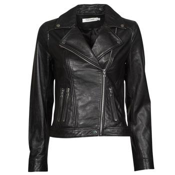material Women Leather jackets / Imitation le Naf Naf CAMARADE Black
