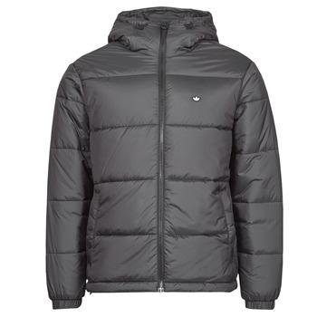 material Men Duffel coats adidas Originals PAD HOODED PUFF Black