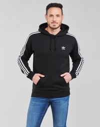 material Men sweaters adidas Originals 3-STRIPES HOODY Black