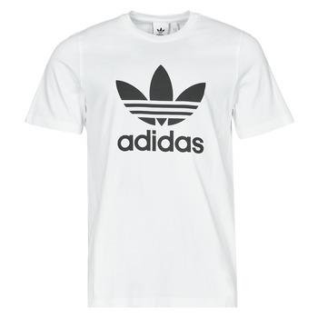 material Men short-sleeved t-shirts adidas Originals TREFOIL T-SHIRT White