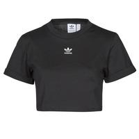 material Women short-sleeved t-shirts adidas Originals TEE Black