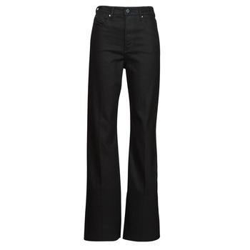material Women bootcut jeans G-Star Raw DECK ULTRA HIGH WIDE LEG Black