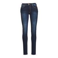 material Women slim jeans Le Temps des Cerises PULP HIGH NAPLES Blue / Black