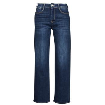 material Women straight jeans Le Temps des Cerises PULP HIGH WAIST Blue