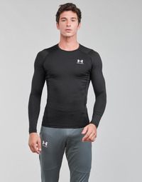 material Men Long sleeved shirts Under Armour UA HG ARMOUR COMP LS Black / White