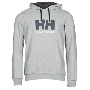 material Men sweaters Helly Hansen HH LOGO HOODIE Grey