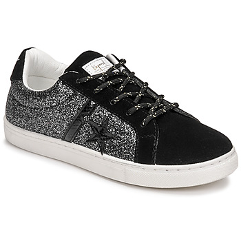 Shoes Women Low top trainers Kaporal TRINITY Black / Glitter