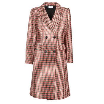 material Women coats Betty London PIVENE Black / Red