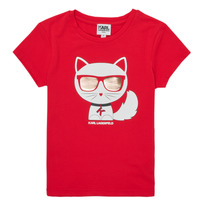 material Girl short-sleeved t-shirts Karl Lagerfeld AIGUE-MARINE Red