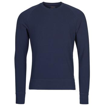 material Men Long sleeved shirts Polo Ralph Lauren LS CREW SLEEP TOP Marine