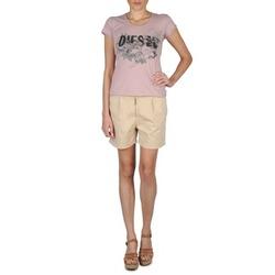 material Women Shorts / Bermudas Diesel HANTU BEIGE