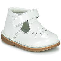 Shoes Girl Ballerinas Citrouille et Compagnie OTALI White / Varnish