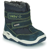 Shoes Boy Snow boots Citrouille et Compagnie POUDOU Blue / Green