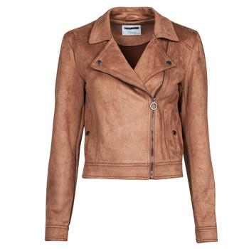 material Women Leather jackets / Imitation le Noisy May NMROCKY Cognac