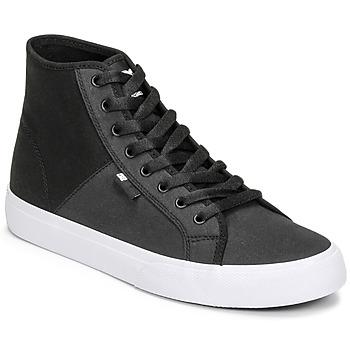 Shoes Men High top trainers DC Shoes MANUAL HI TXSE Black / White