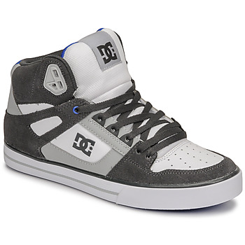 Shoes Men High top trainers DC Shoes PURE HIGH-TOP WC Grey / Black