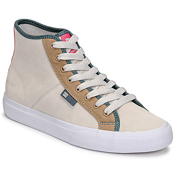 Shoes Women High top trainers DC Shoes MANUAL HI SE Beige