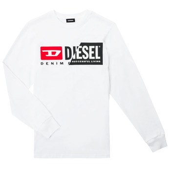 material Children Long sleeved shirts Diesel TDIEGOCUTY ML White