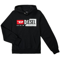 material Children sweaters Diesel SGIRKHOODCUTYX OVER Black