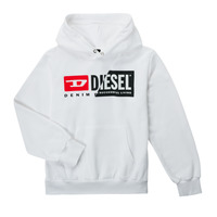 material Children sweaters Diesel SGIRKHOODCUTYX OVER White