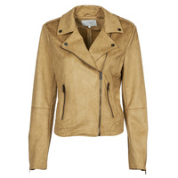 material Women Leather jackets / Imitation le Vila VIFADDY Camel