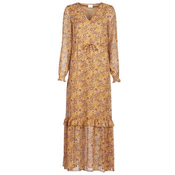 material Women Long Dresses Vila VIFALIA Cognac