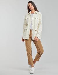 material Women straight jeans Vila VIOTAS Brown