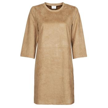 material Women Short Dresses Vila VISUDA Brown