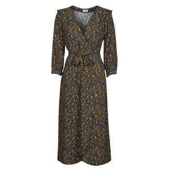 material Women Long Dresses Vila VIZUGI Black / Yellow / Blue