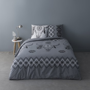 Home Bed linen Mylittleplace ISIDORE Grey / Dark