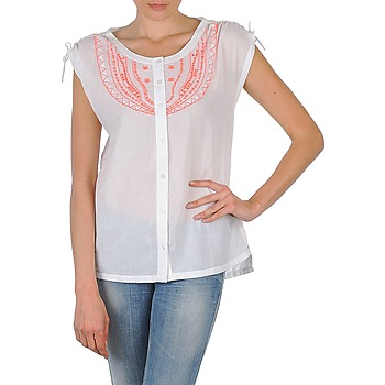 material Women short-sleeved shirts Antik Batik AYLA White