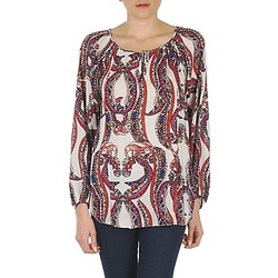 material Women Blouses Antik Batik BARRY Orange / Multi