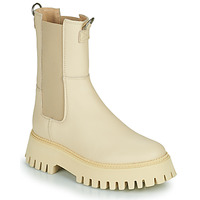 Shoes Women Mid boots Bronx GROOV Y Beige