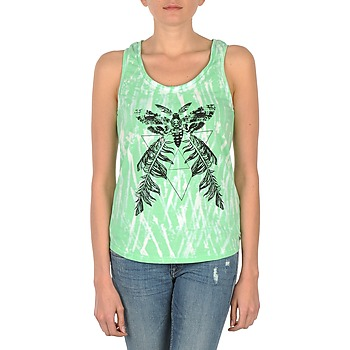 material Women Tops / Sleeveless T-shirts Eleven Paris PAPILLON DEB W Green / White