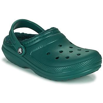 Shoes Clogs Crocs CLASSIC LINED CLOG Green