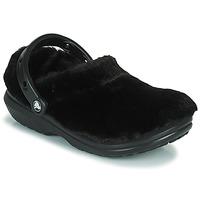 Shoes Women Clogs Crocs CLASSIC FUR SURE Black