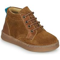 Shoes Boy High top trainers Citrouille et Compagnie PACELLE Camel