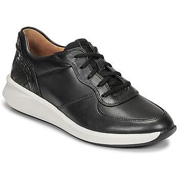 Shoes Women Low top trainers Clarks UN RIO SPRINT Black