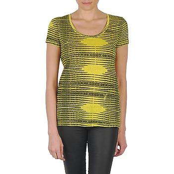 material Women short-sleeved t-shirts Eleven Paris DARDOOT Yellow