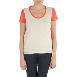 material Women short-sleeved t-shirts Eleven Paris EDMEE Beige / Orange
