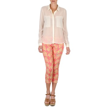 material Women cropped trousers Manoush PANTALON GIPSY JEANS Pink