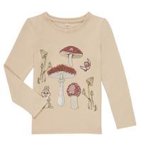 material Girl Long sleeved shirts Name it NMFTHUMPER ALFRIDA LS TOP Beige