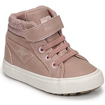 Shoes Girl High top trainers Kangaroos KAVU III Pink