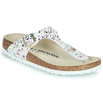 Shoes Girl Flip flops Birkenstock GIZEH White / Multicolour