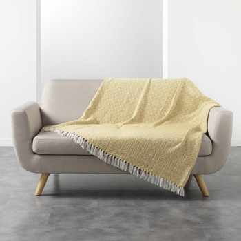 Home Blankets, throws Douceur d intérieur PITHAYA Yellow