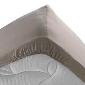 Home Fitted sheet Douceur d intérieur STONALIA Taupe