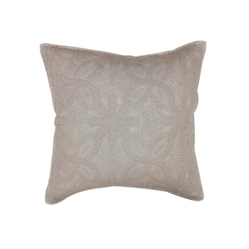 Home Cushions covers Douceur d intérieur FLORETTE Taupe