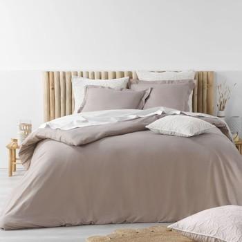 Home Bed linen Douceur d intérieur STONALIA Taupe