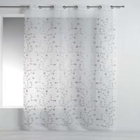 Home Sheer curtains Douceur d intérieur PETITE FLEUR White / Grey