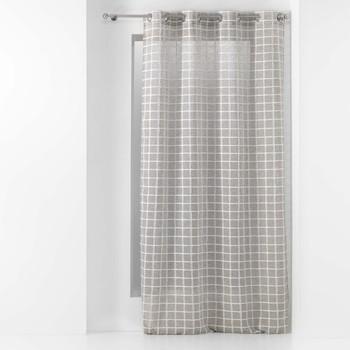 Home Sheer curtains Douceur d intérieur KARRONA Taupe